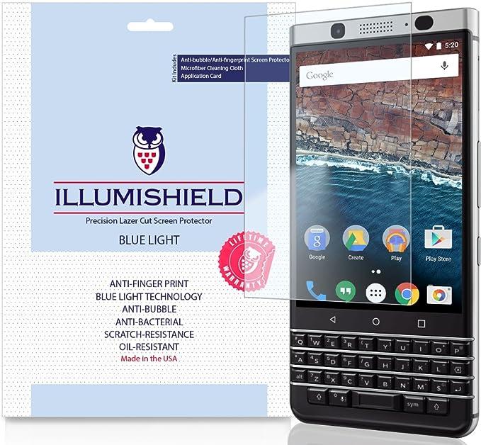 Blackberry Keyone Protector de pantalla [2-Pack], iLLumiShield luz ...
