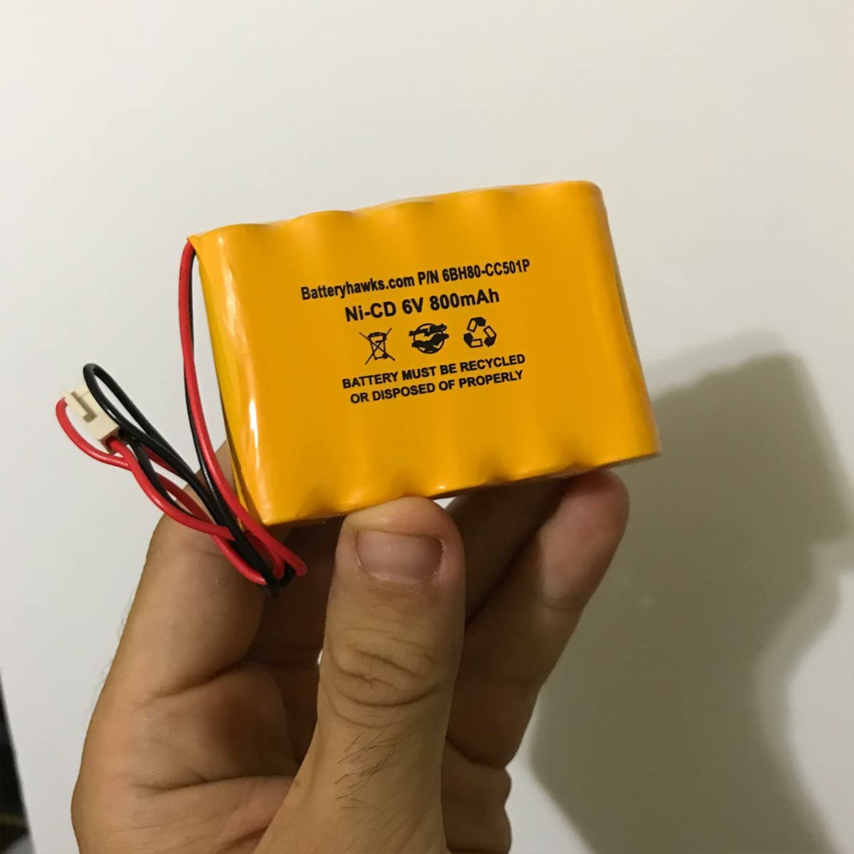 Saft 705105 Emergi-Lite 0018701 EmergiLite 6v 800mAh Ni-CD Battery Pack Replacement for Exit Sign Emergency Light 850.0054 850.0035