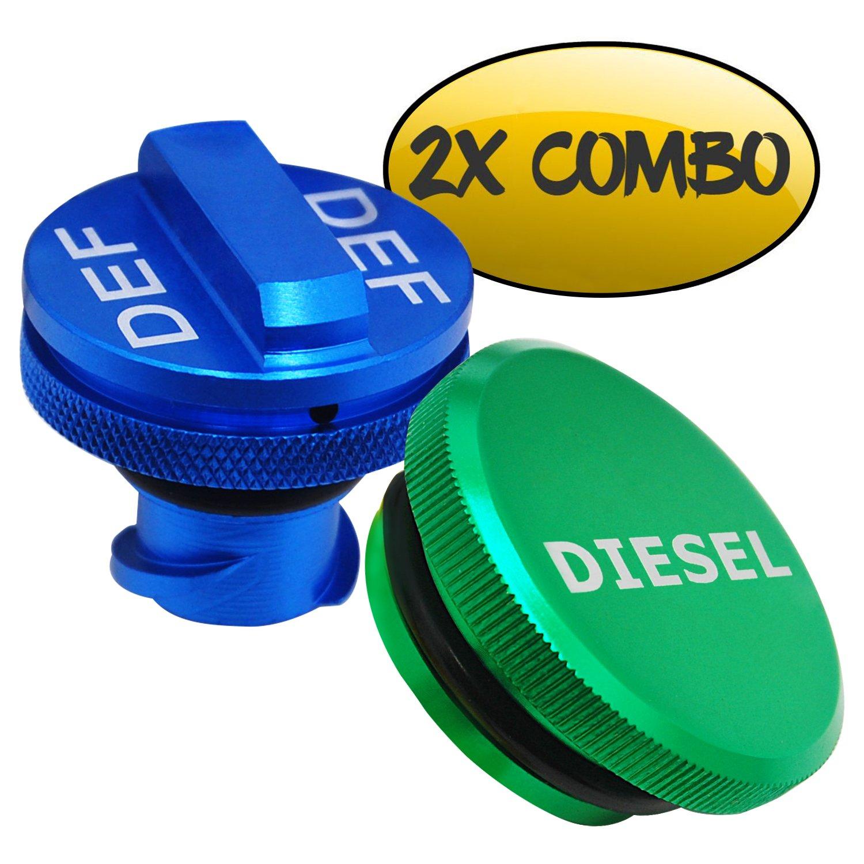 Diesel Fuel Cap for Dodge, BORUD Magnetic Ram Diesel Billet Aluminum Fuel Cap and DEF Cap Combo for 2013-2018 Dodge Ram Truck 1500 2500 3500 with New Easy Grip Design by BORUD