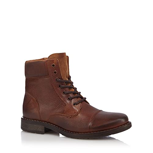 RJR John Rocha Tan leather lace up boots