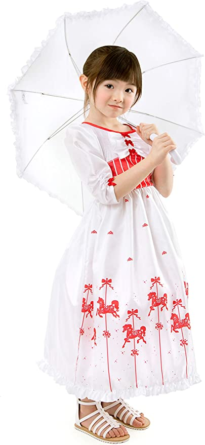 Victorian Kids Costumes & Shoes- Girls, Boys, Baby, Toddler Little Adventures English Nanny Dress Up Costume with Parasol Umbrella $44.99 AT vintagedancer.com