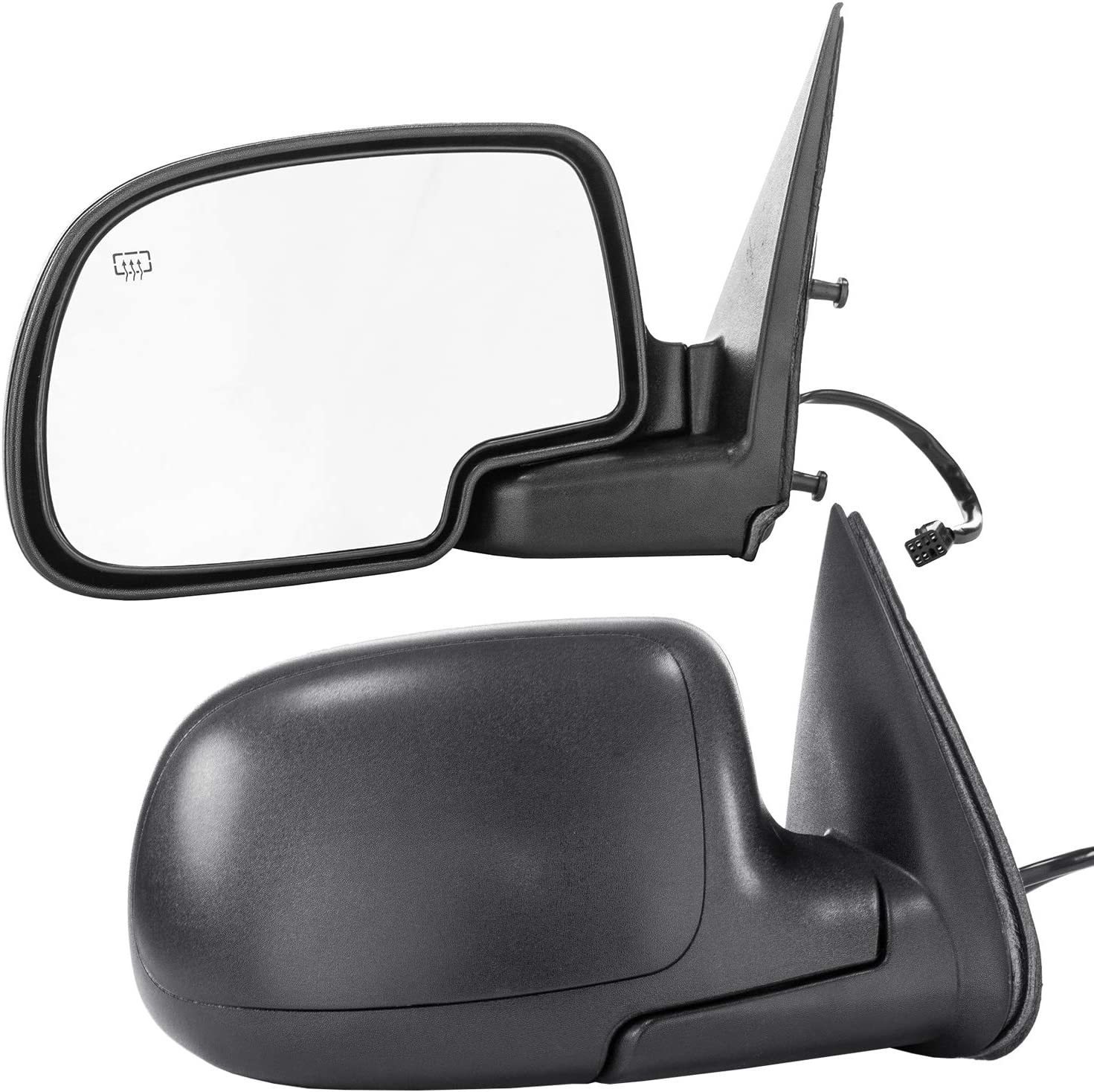 GM1320332 Parts Link # Dependable Direct Left Side Textured Manual Folding Mirror for 07-13 Chevy Silverado 2008-2014 GMC Sierra