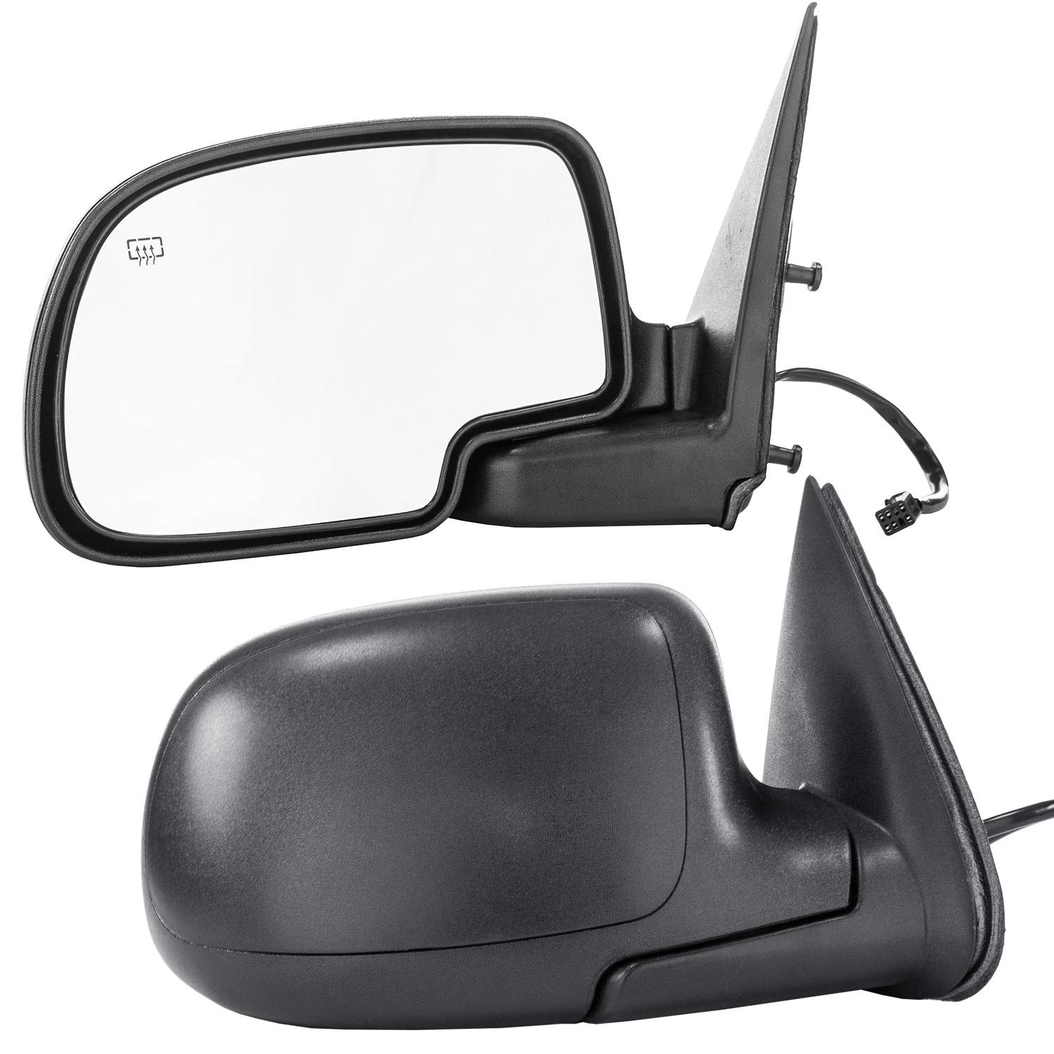 Dependable Direct Side Heated Mirrors for 00-05 Chevy Suburban, Tahoe Yukon GM1321247 - CHECK FITMENT IN DESCRIPTION