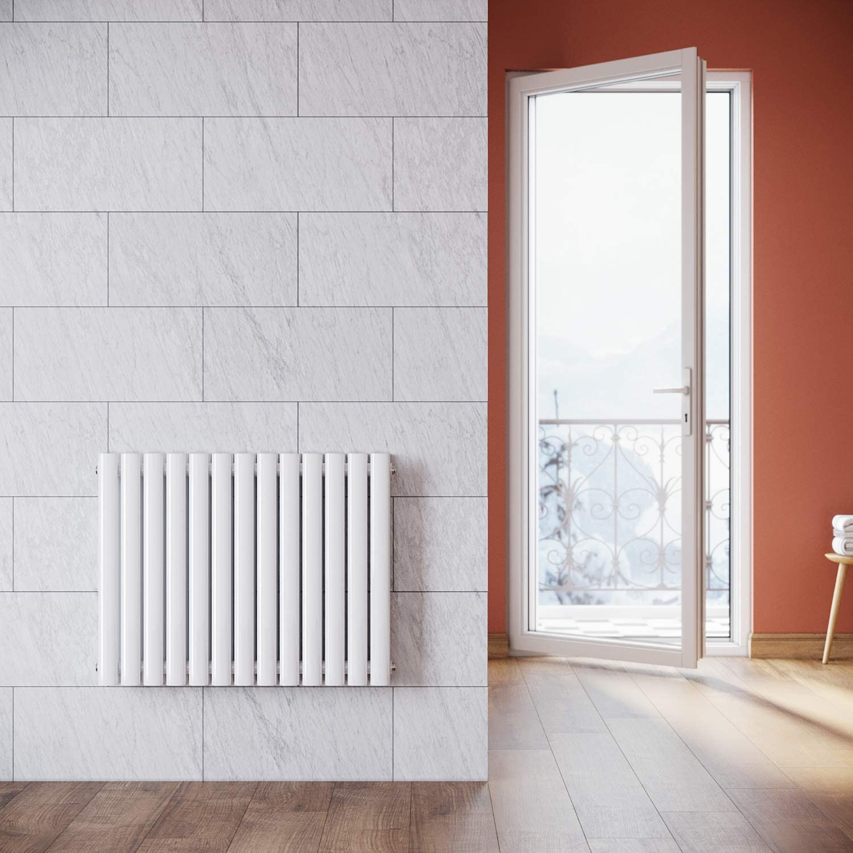 1800 x 280 cm cocina y habitaciones LUXURY Radiador de radiador de aluminio tradicional doble panel de dise/ño vertical con calefacci/ón central para ba/ño color blanco