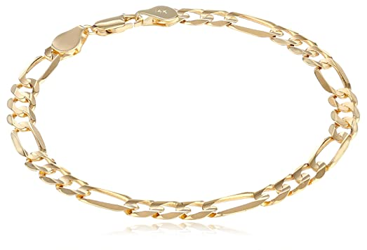 menu0027s 14k yellow gold 61mm figaro bracelet
