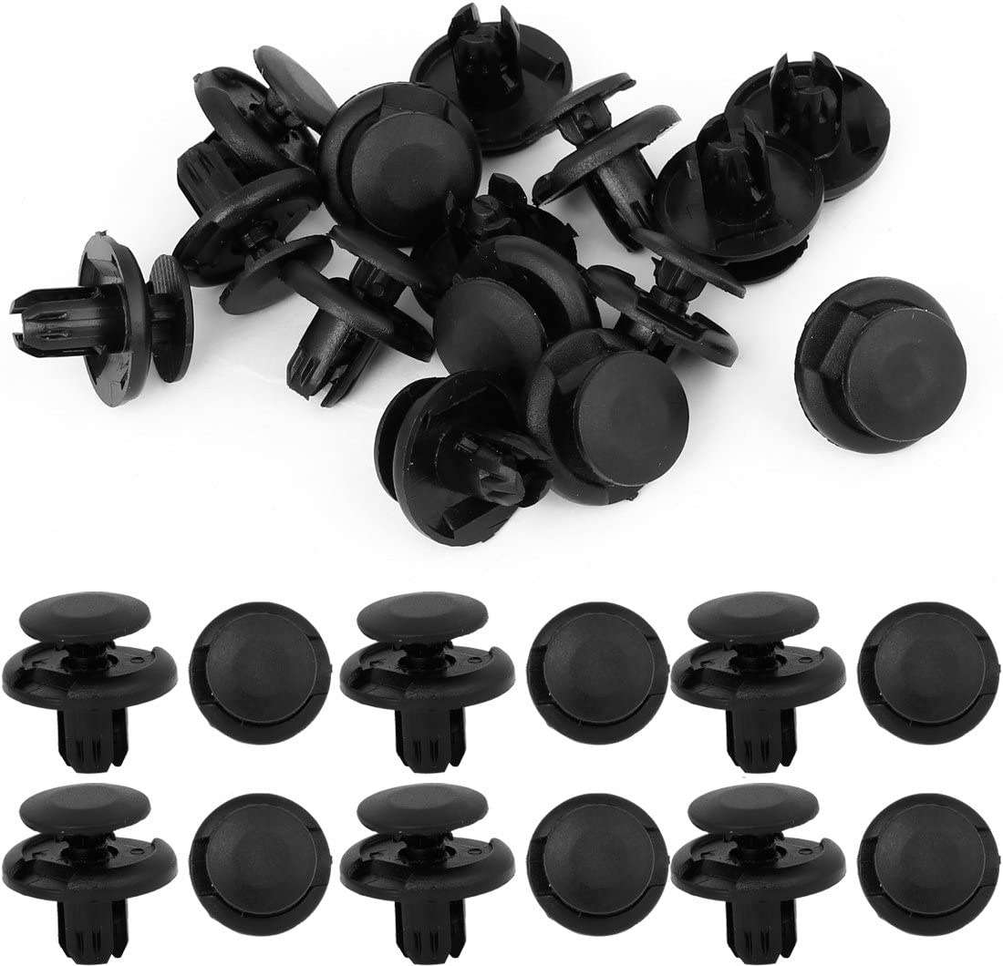 uxcell uxcell 15 Pcs 8mm Hole Retainer Clips Plastic Drive Rivets Mud Flaps Bumper Fender Push Clips for Honda Accord