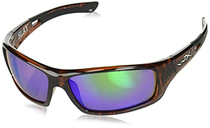 63c01a16ea Image Unavailable. Image not available for. Color  Wiley X ACSLA07 Slay Sunglasses  Polarized Emerald Green ...