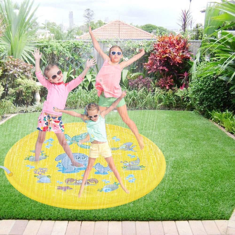 Inflatable Outdoor Sprinkler Pad for Kids 68 Sprinkler Mat Inflatable Water Toys Toddlers Boys Girls and Kids Children/'s Sprinkler Pool Splash Pad for Outside