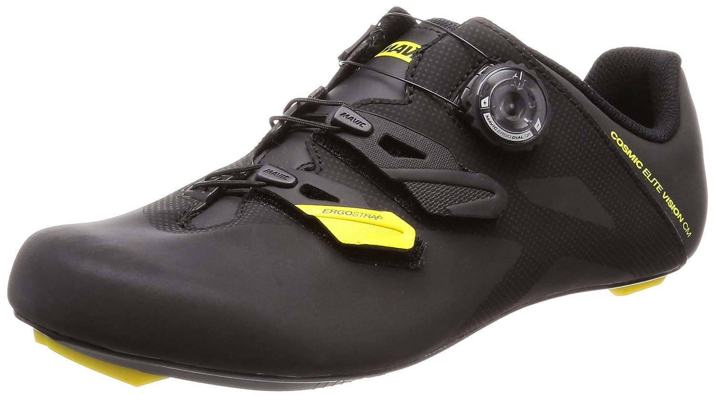 Mens Black//Yellow Mavic//Black US 10.0//UK 9.5 Mavic Cosmic Elite Vision cm Cycling Shoe