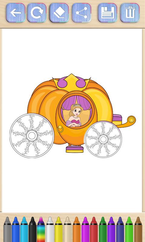 Cenicienta para pintar - Libro para colorear princesas: Amazon.es ...