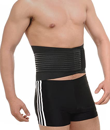 dc451a9f9075a Amazon.com  Slimming Waist Shaper Body Support Belt Waist Trainer Trimmer  Cincher Belt with Dual Adjustable Belly Girdle  Sports   Outdoors