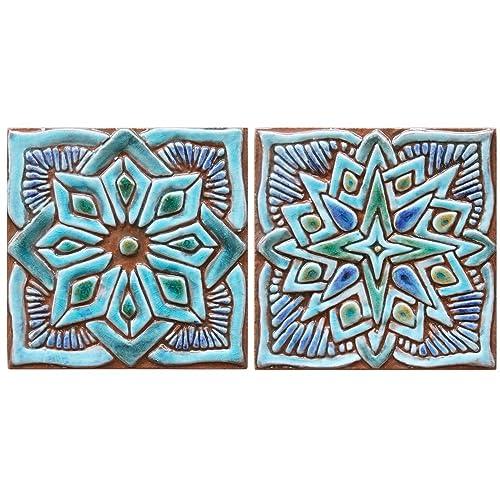 Amazon Com 2 Moroccan Decor Ceramic Tiles 5 9 By G Vega Ceramica