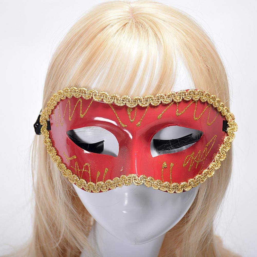 Máscara Mascarada Antifaz Carnaval Duque Media Cara Pintado ...