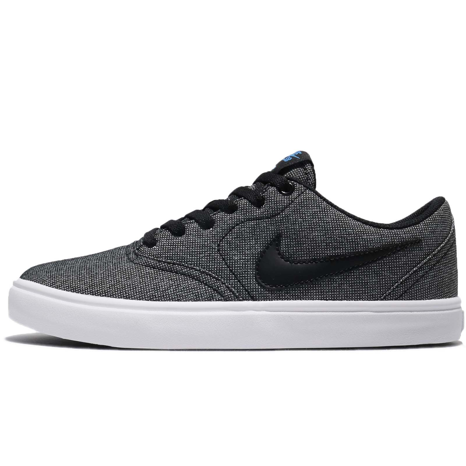 Nike Mens Check Solar Solar Sole Skateboarding Shoes Black 4.5 Medium (D) by Nike (Image #1)