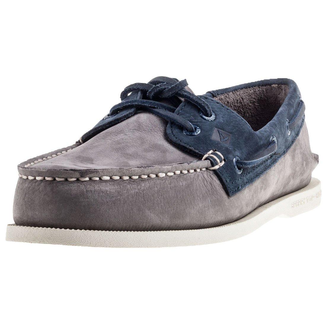 Sperry Top-Sider Hombre A/0 Zapatos de Barco de 2 Ojos, Gris