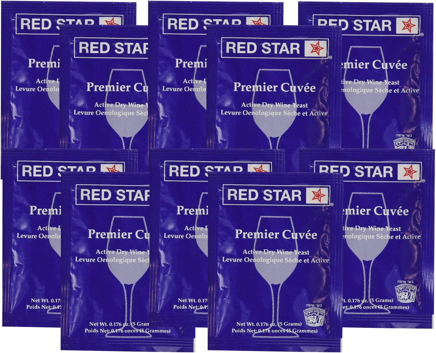 Red Star RS-Cuveex10 Premier Cuvee Yeast 10 Packets