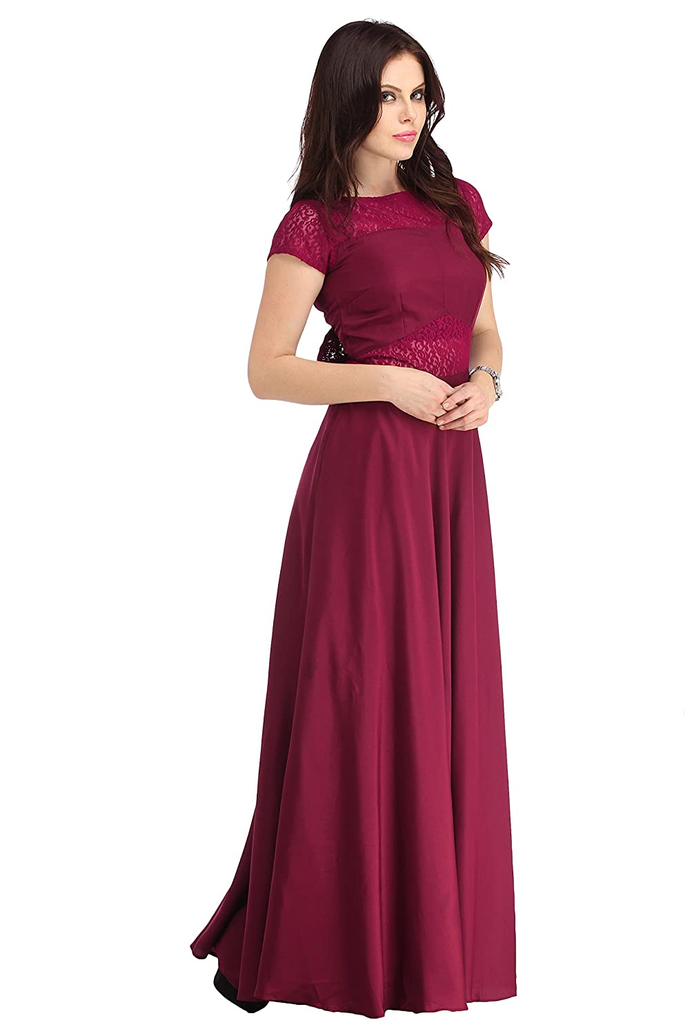 Raas Prêt Women's Crepe Flared Gown