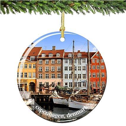 "Copenhagen Denmark Christmas Ornament, Porcelain 2.75"" Double Sided Christmas  Ornaments - Amazon.com: Copenhagen Denmark Christmas Ornament, Porcelain 2.75"
