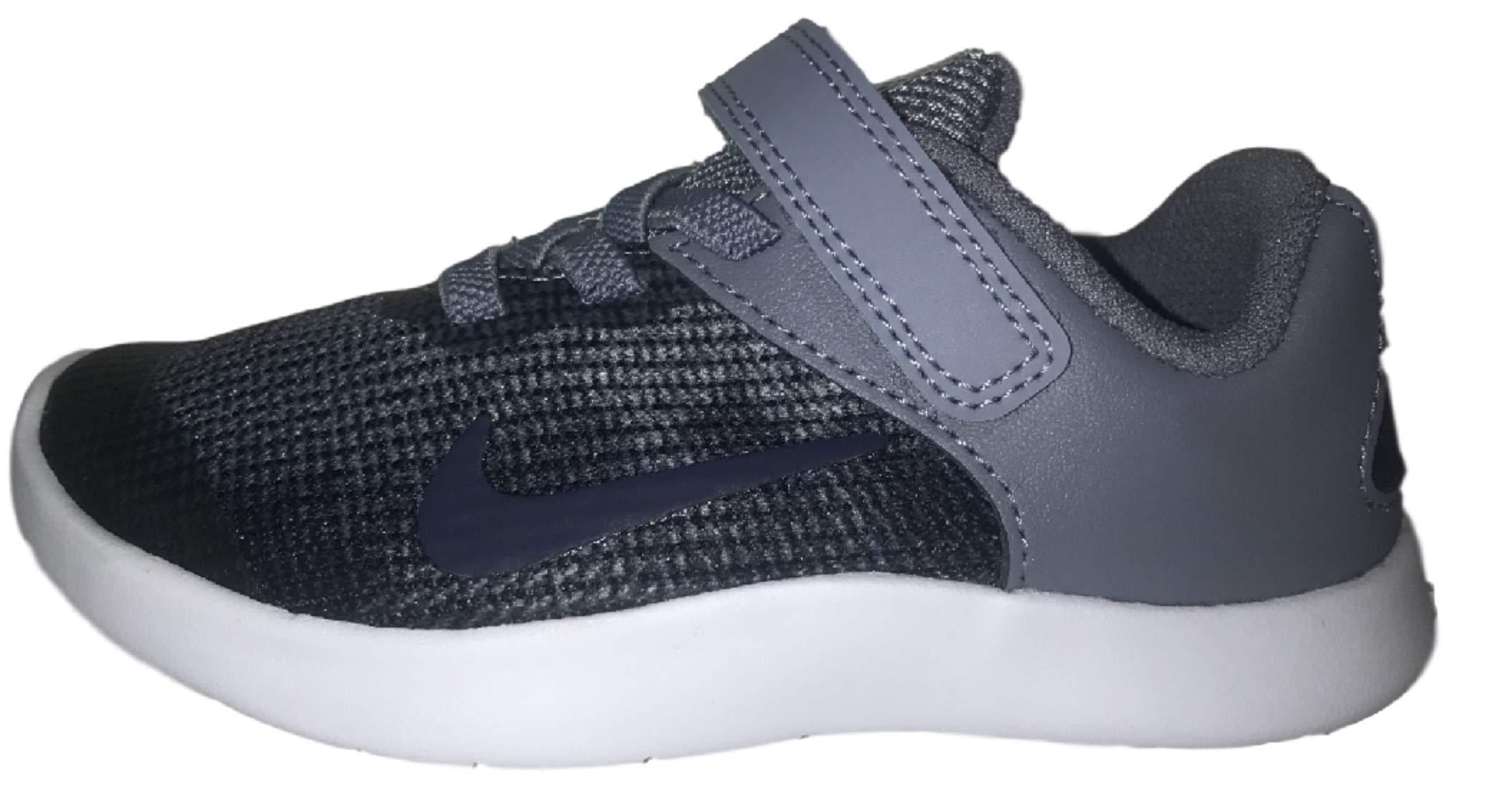 Nike Boy's Flex 2018 RN (TDV) Running Shoes (6 Toddler M, Ashen Slate/Blue Void)