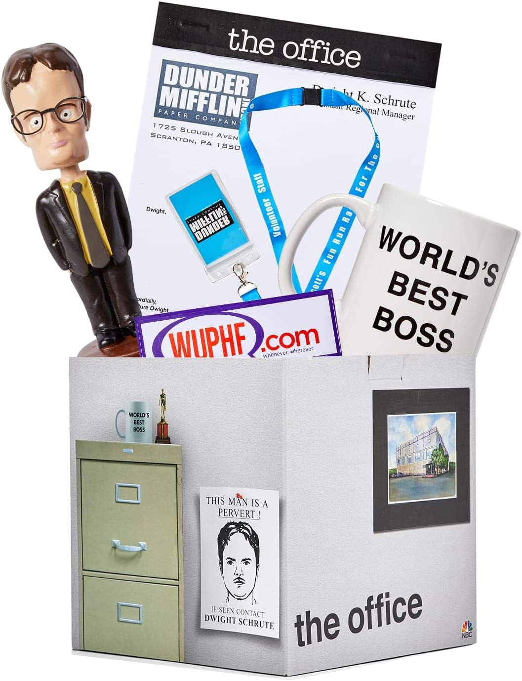 JUST FUNKY Official The Office LookSee Mystery Gift Collectors Box - Includes Bobblehead, Mug, Lanyard, and More - Exclusive Fan Toy Collectibles Set for Family and Friends - Licensed Merchandise