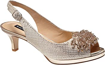 8a980237e Alex Marie Marla Metallic Suede Beaded Accent Peep-Toe Pumps