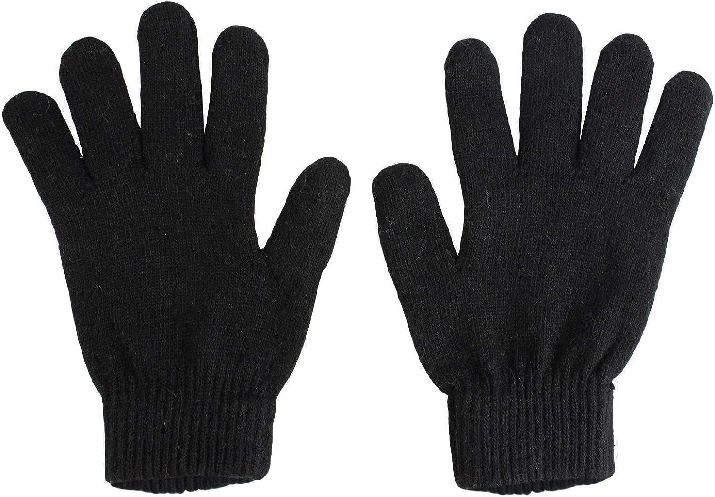 Glamexx24 Unisex Handschuhe Strick Fingerhandschuh Gloves Winterhandschuhe