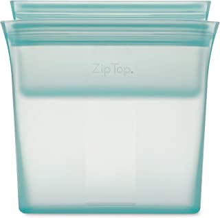 product image for Zip Top Reusable 100% Silicone Food Storage Bags and Containers - 2 Bag Set - Sandwich & Snack Bags - Teal