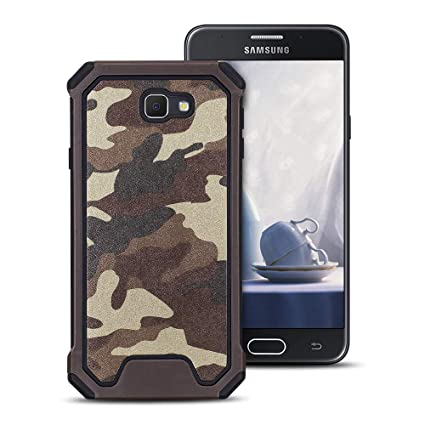 MOEVN Armor Funda para Samsung J7 Prime, Galaxy J7 Prime Carcasa Camuflaje PC + TPU 2 en 1 Silicone Cover Protección Duro Caso Choque Amortiguador ...