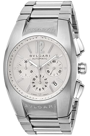 Bvlgari Elgon Color Blanco Dial Automático Cronógrafo eg40 C6ssdch Hombres Reloj