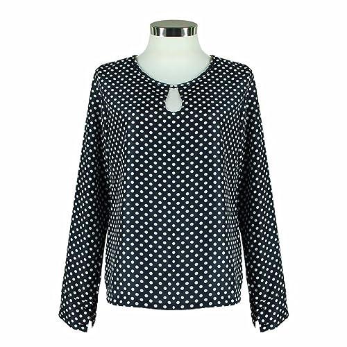 LOBZON – Camisas – Lunares – Cuello redondo – para mujer