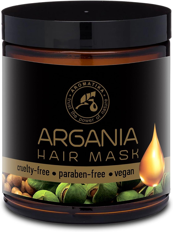 Mascarilla Capilar de Argán de 250ml - con Aceite Natural de Argán y Coco para Todo Tipo de Cabello - Fórmula Reparadora - Cuidado del Cabello - 100% Natural Oils Argan & Coconut