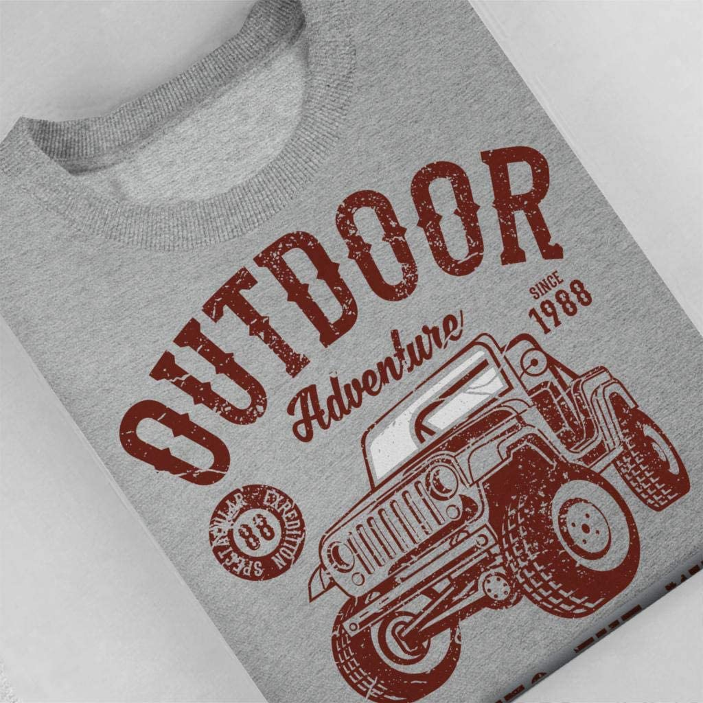 Outdoor Adventure Go Into The Wild Jeep Kids Sweatshirt