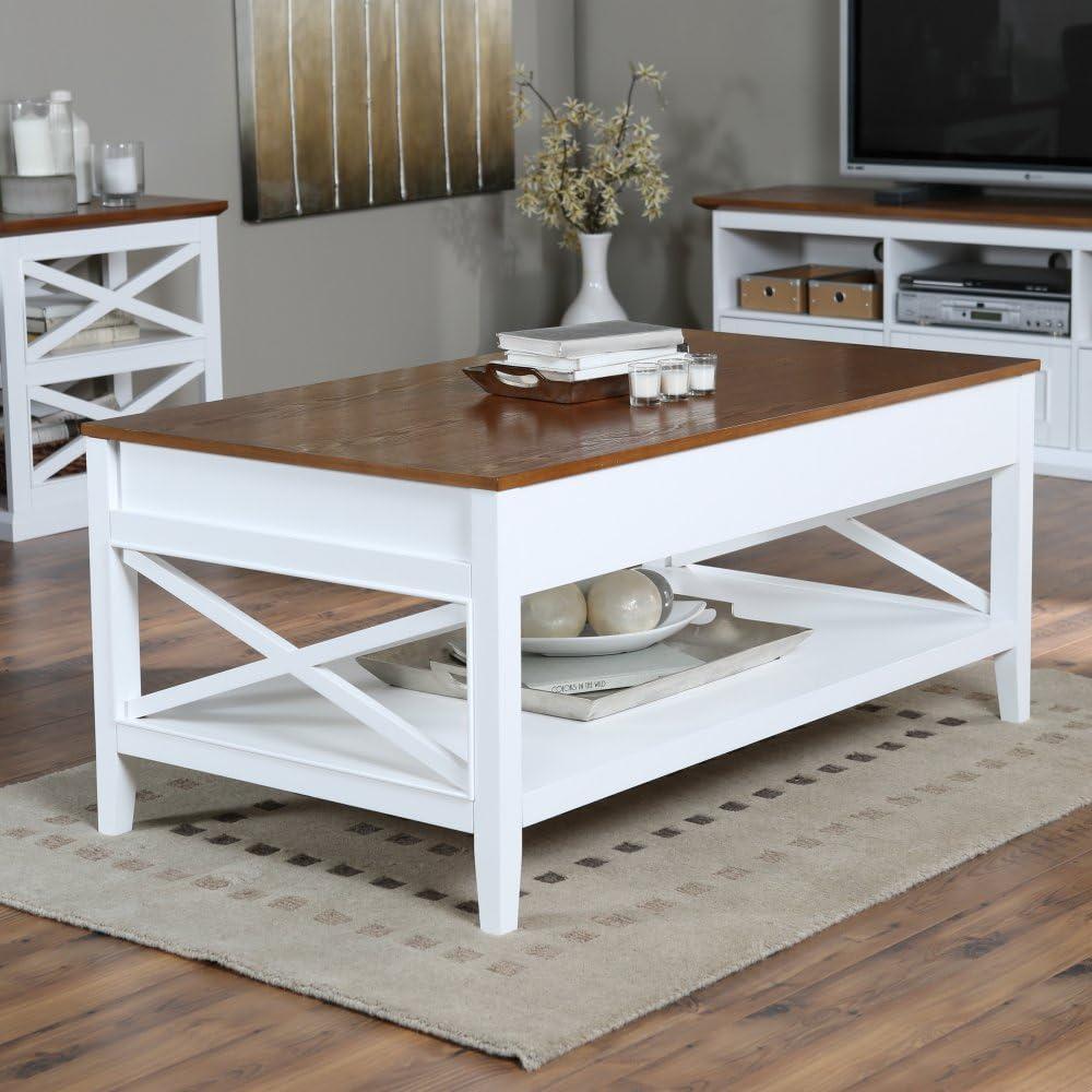 Amazon Com Belham Living Hampton Storage And Lift Top Coffee Table Kitchen Dining