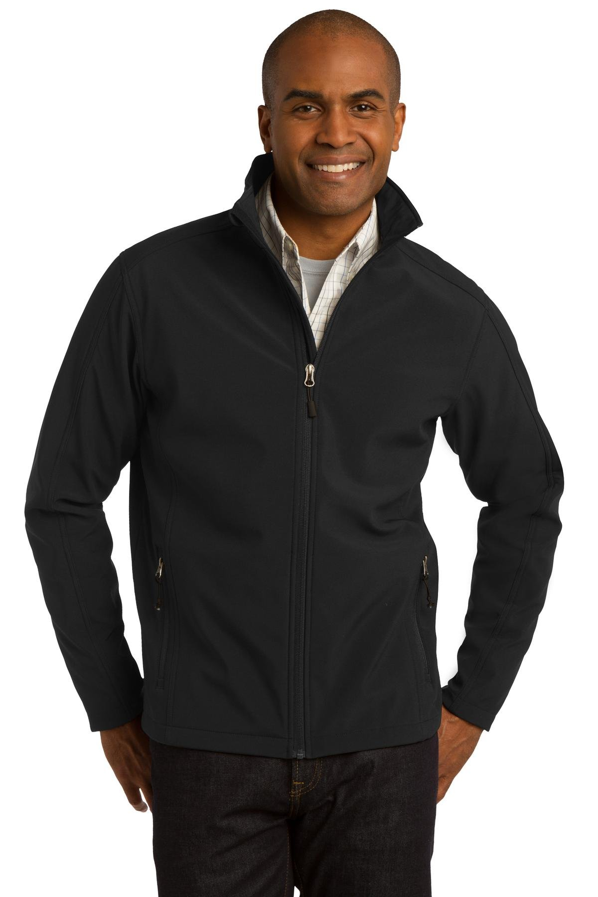 Port Authority Men's Core Soft Shell Jacket S Black by Port Authority