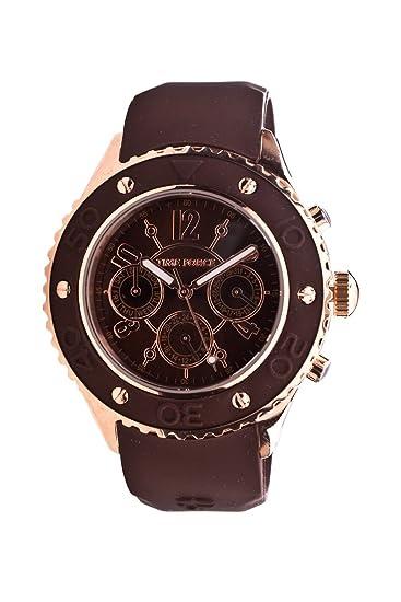 Time Force Reloj analogico para Mujer de Cuarzo con Correa en Caucho TF3301L14: Amazon.es: Relojes