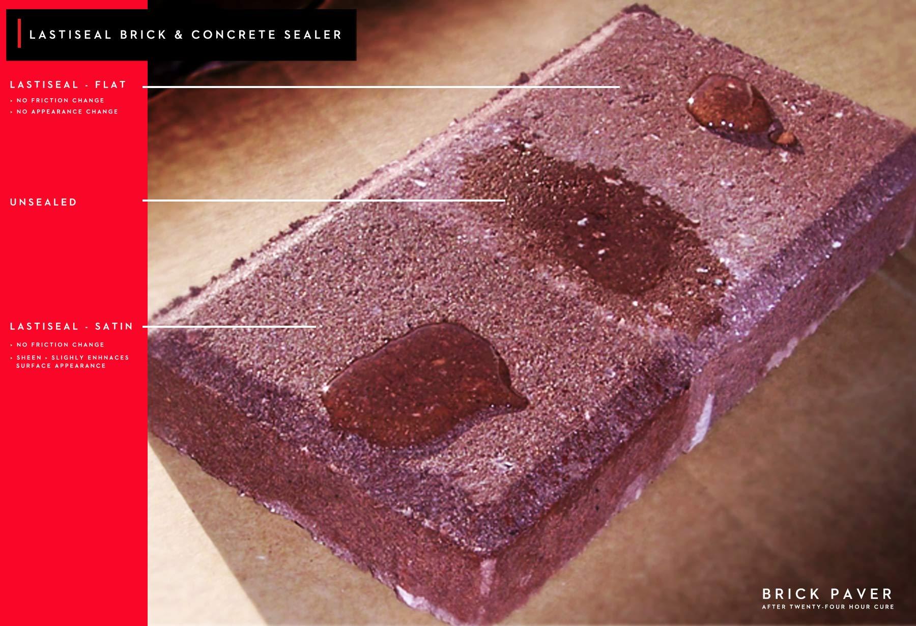 LastiSeal Brick & Concrete Sealer - SATIN Finish (5-gal) | All Purpose Sealer for Brick, Concrete, Stone, Porous Masonry | 15-Year Waterproofing Warranty | Low Gloss Sheen by RadonSeal (Image #4)
