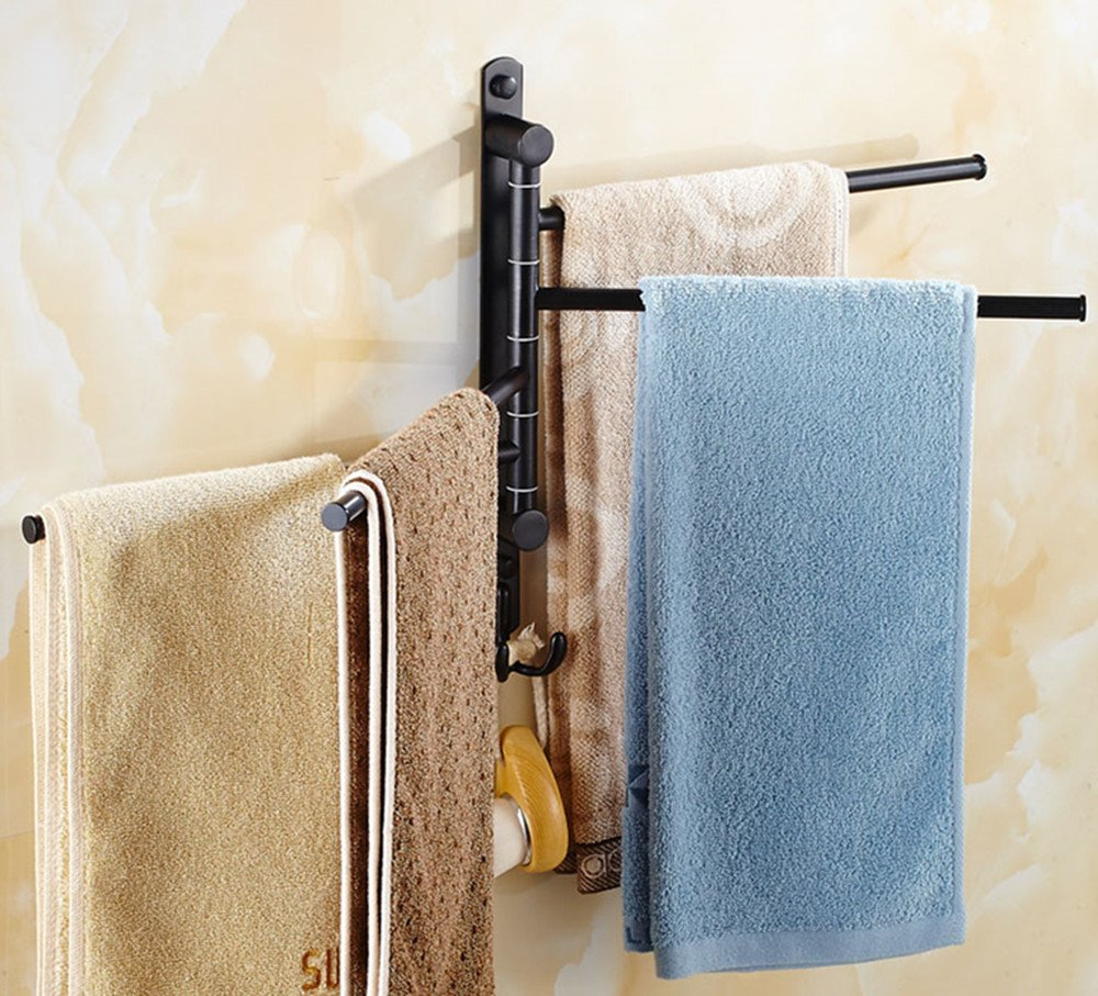 Amazon.com: ELLO&ALLO Oil Rubbed Bronze Towel Bars for Bathroom Wall ...