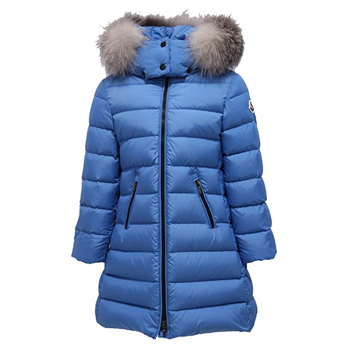 MONCLER 8062Y Piumino Bimba Girl Light Blue Abelle Jacket [4 ...