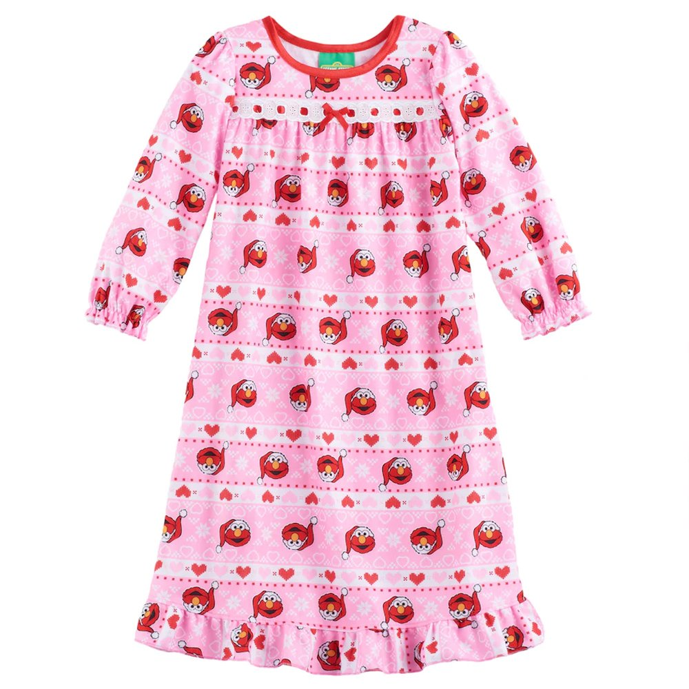 Sesame Street Elmo Girls Flannel Granny Gown Nightgown (Toddler/Little Kid) manufacturer