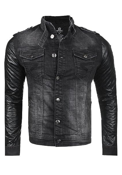 Cipo & Baxx Herren Jeans Biker Jacke C44605 | Sale 50%