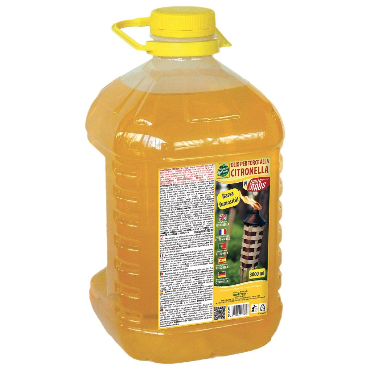 Olio per torce citronella 3lt MondoVerde