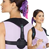 ALESQUAR Posture Corrector for Women Back Brace Spine Shoulder Support for Back Pain Relief, Adjustable Clavicle Brace for Hunching Slouching Comfortable Breathable