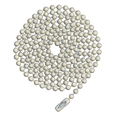 3 Foot Length Ball Chains, Number 6 Size, White Coated, with Matching Connectors (3 Pack): Home Improvement
