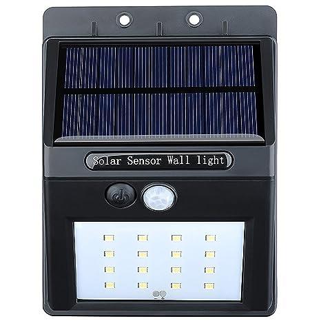 VicTsing 16 LEDs Luz Solar con Sensor de Movimiento Focos para Pared Exterior, Iluminación y