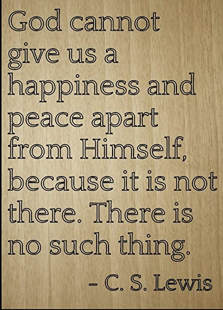 Amazoncom God Cannot Give Us A Happiness And Peace Quote By