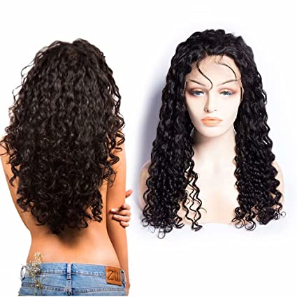 Maxine 10A Peluca de pelo humano brasileño, rizada, 180% densidad, pelo rizado