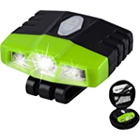 Ultra Bright Mini Hands Free Cree LED Clip on Cap Light - Rechargeable Waterproof Hat Light Flashlight Headlamp for…