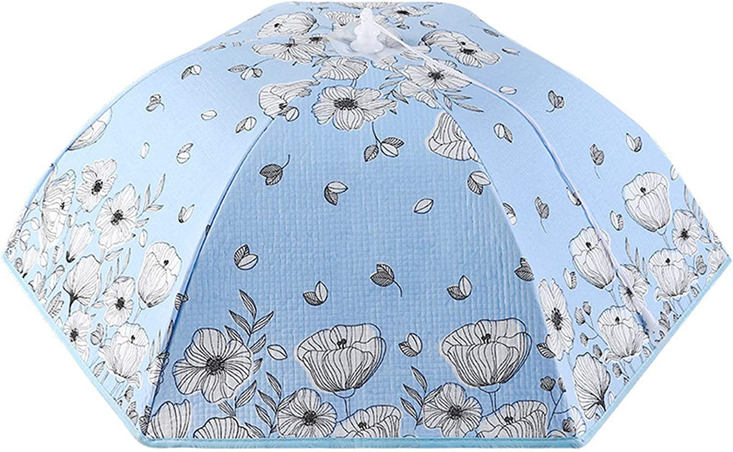 GL-GDD Insulated Food Cover, Hot Collapsible Food Tent Thermal Pop Up Umbrella Cover Keep Bugs&Dust Off for Kitchen Restaurant Picnic,Blue