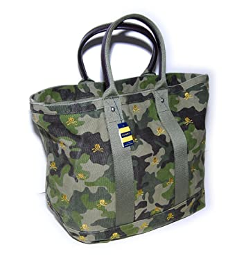 2faf1368c9 Polo Ralph Lauren Rugby Mens Skull Canvas Tote Bag Camoflauge Camo Green  Yellow  Amazon.co.uk  Clothing