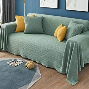 KXGL Reversible Sofa Cover, Jacquard Sofa Slipcove Full Covers Furniture Protector Couch Sofa Cover for Sectional Sofa Corner Couch Recliner Armchair-C-170x380cm